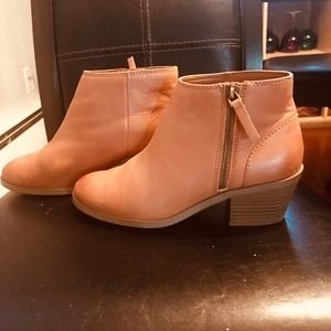 Camel Leather Ankle Boots Gap 7.5